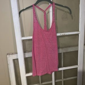 Tops - Pink racer back tank top